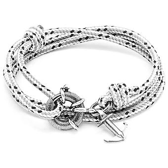 Anchor and Crew Clyde Silver and Rope Bracelet - Grey Dash