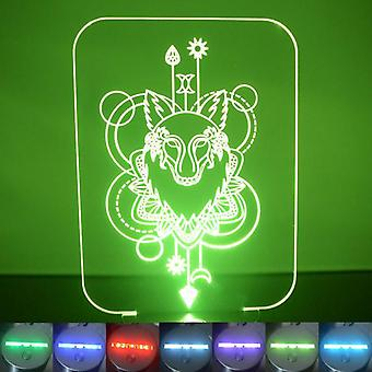 Wolf Decorative Rectangle Colour Changing LED Acrylic Light