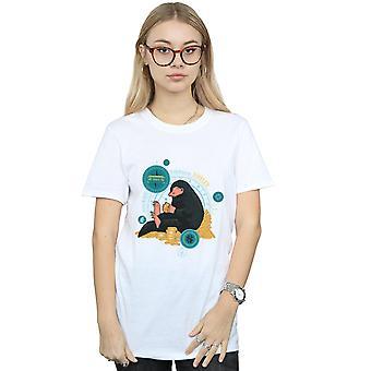 Seduta Niffler Boyfriend bestie fantastiche 2 femminile Fit t-shirt
