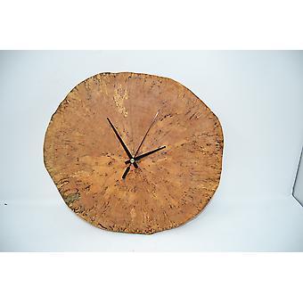 Væg ur træ ur ur træ plade 33 x 31 cm lavet i Østrig Se Birch Betula ur wallclock ur gave gaveide trækunst dekoration dekorative træ dekoration