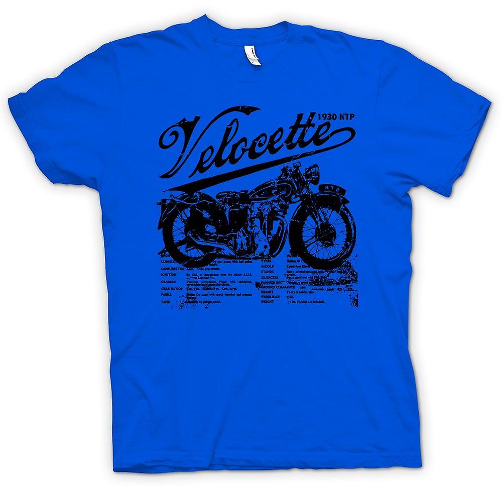 Mens T-shirt - Velocette KTP 1930 - Classic Bike