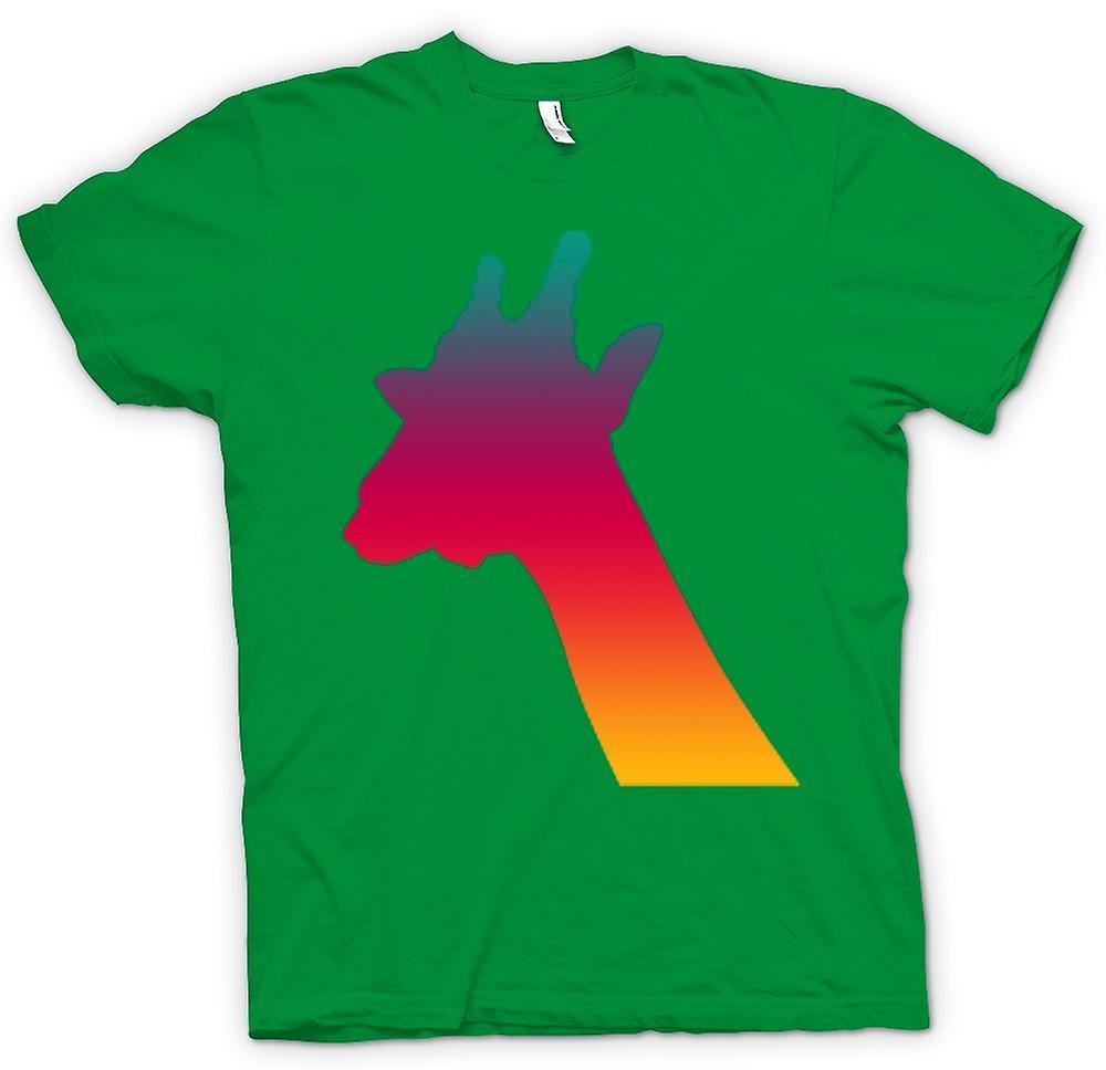 Mens T-shirt - Rainbow Giraffe Psychedelic Design