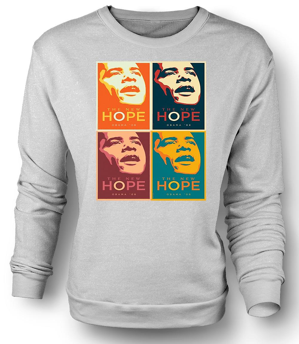 Mens Sweatshirt Obama 08 The New Hope - Warhol