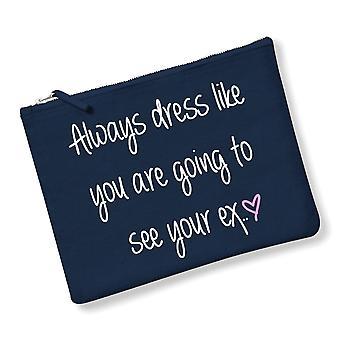 Alltid kjole som du er kommer til å se din Ex utgjør Bag marineblå grå eller rosa