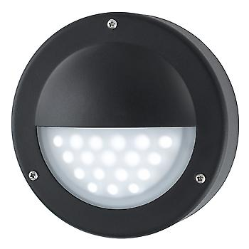 Searchlight 8744BK LED Black Outside Wall Light, IP44