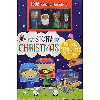The Story of Christmas: A Fold Out Story [Board book]