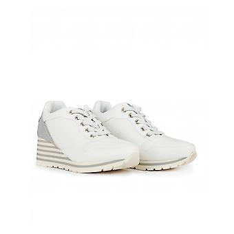 Xti Lace Up Wedge Trainers