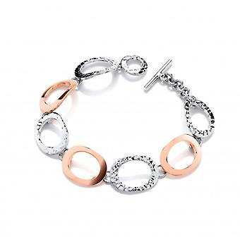Cavendish French Sterling Silver and Copper Large Ovals Bracelet