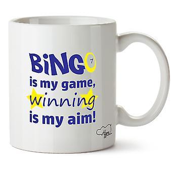 Hippowarehouse Bingo é meu jogo, ganhar é meu objetivo impresso caneca copo cerâmico 10oz