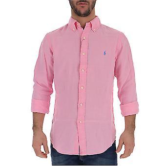 Camicia in cotone Ralph Lauren rosa