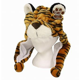 Winter Hat With Wrap Round Scarf Paws - Tiger Clothes Accessory Brand New - (TY7895)