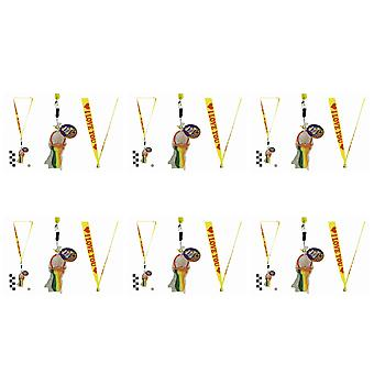 Pack Of 6 Rock Dummies With I Love You Lanyards