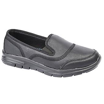 Ladies Womens Leisure Shoes Twin Elastic Gusset Slip On Lightweight Trainers