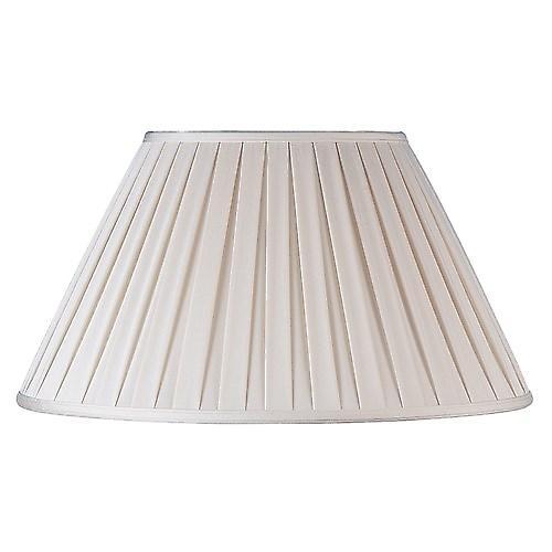 Endon CARLA-14 Carla Cream Box Pleated Fabric Lamp Shade - 14 Inch