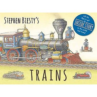 Stephen Biesty's Trains - Cased Board Book with Flaps by Stephen Biest