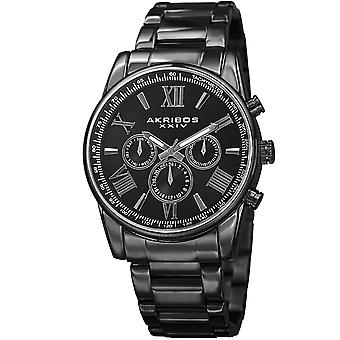 Akribos XXIV Men's Multifunction Tachymeter Stainless Steel Bracelet Watch AK904BK