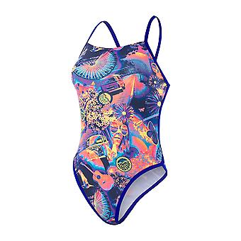 Speedo Hei fem Flash Ribbonback 1 Piece badetøy for jenter