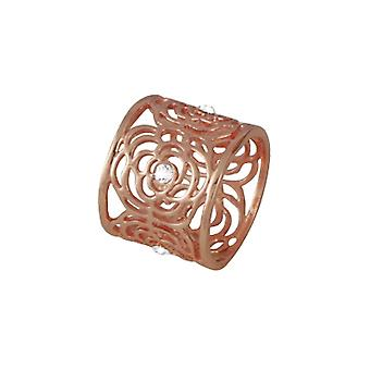 Ewige Sammlung Monet klar Crystal Rose Gold Ton Schal Ring