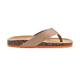 Gold Toe Mens Footbed Sandal Flip Flop Slide With Contrast Color Sole Slip On Shoe