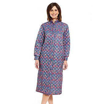 Ladies Womens Quilted Housecoat