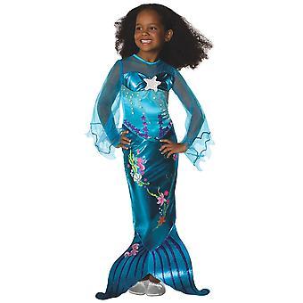 Mágico azul pequena sereia Princesa Ariel história livro semana toddler meninas traje