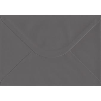 Mörkgrå gummerat C5/A5 färgade grå kuvert. 135gsm GF Smith Colorplan papper. 162 mm x 229 mm. bankir stil kuvert.
