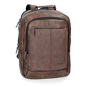 Pepe Jeans Cranford Brown Laptop Backpack - Double Compartment