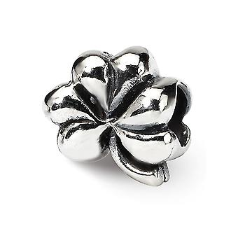 925 Sterling Argent Poli Antique finition Reflections Clover Bead Charm