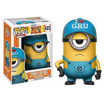 Despicable Me 3 I Heart Gru Mel US Exclusive Pop!