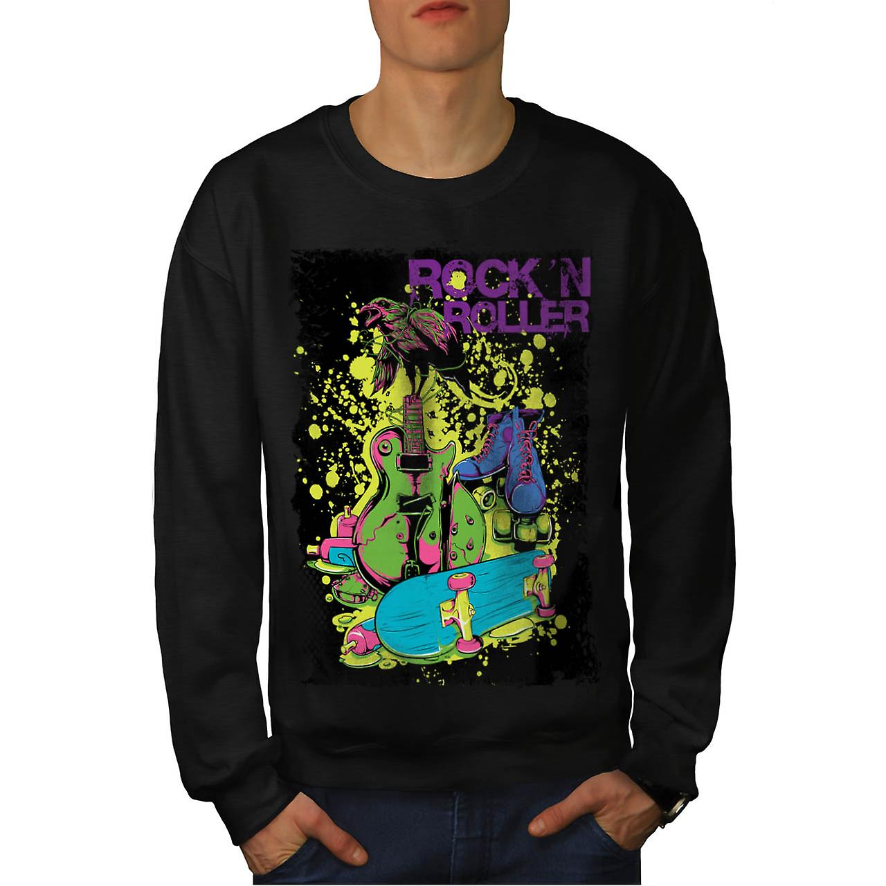 DJ Rock n Roller Party musikk Tune menn svart Sweatshirt | Wellcoda