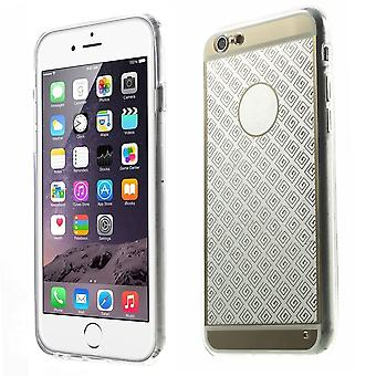Geometric rubber TPU cover for iPhone Plus 5.5 6 (Golden)