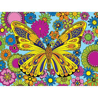 Coloring Puzzle 300pcs-June Butterfly WM1208