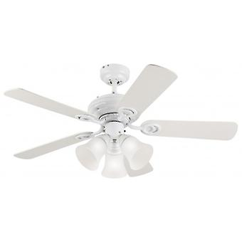 "Westinghouse Ceiling Fan Apollo Trio Plus white 105 cm / 42"" with lighting"