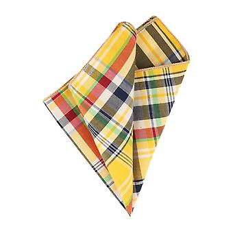 Andrews & co. handkerchief yellow plaid handkerchief Cavalier cloth