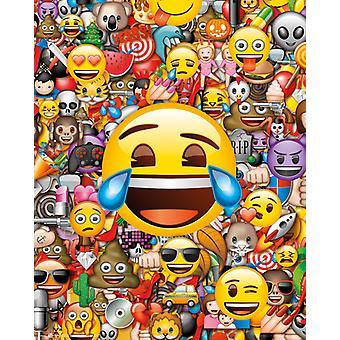 Emoji Collage Mini Poster