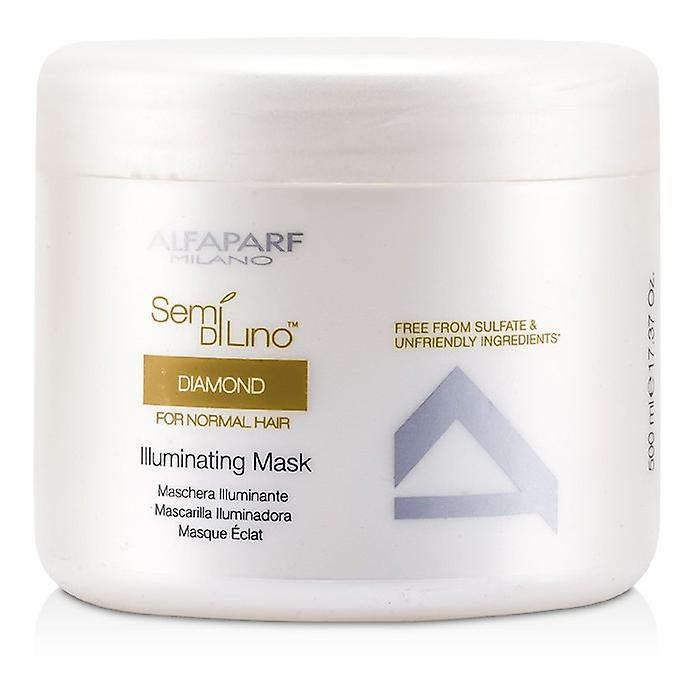 AlfaParf Semi Di Lino diamante Illuminating Mask (para cabello Normal) 500ml / 16.9oz