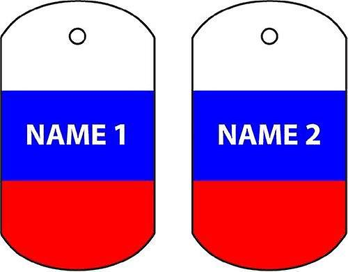 Personalised Russia Dog Tag Car Air Freshener