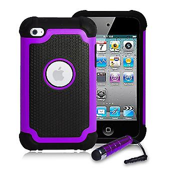 Custodia antiurto + stilo per Apple iPod Touch 4 - viola