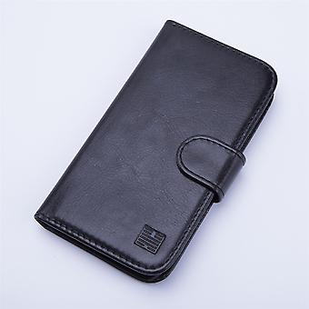Book wallet leather case + stylus for Vodafone Smart Ultra 6 - Black