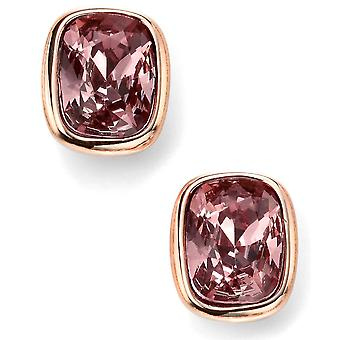 925 Silver Rose Gold Plated Swarovski Crystal Earring