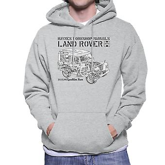 Haynes Owners Workshop Manual Land Rover Overland zwarte mannen Hooded Sweatshirt