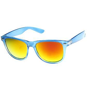 Grande montatura oversize traslucido colore specchio corno montatura occhiali da sole
