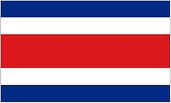 Costa Rican Flag 5ft x 3ft With Eyelets For Hanging