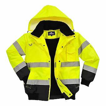 Portwest - HI-Vis Safety Workwear Contrast Bomber Jacket