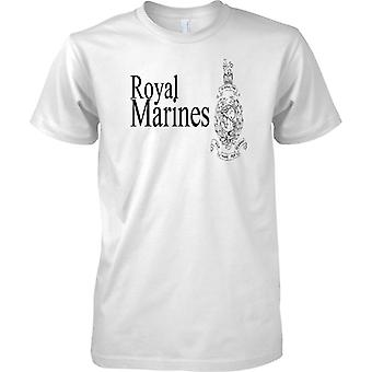 Licensed MOD -  Royal Marines Globe And Laurel - Elite Commando Unit - Mens T Shirt