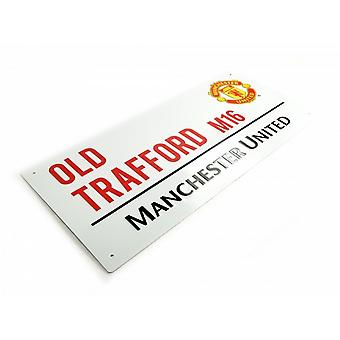Manchester United FC calcio ufficiale Street Metal Sign