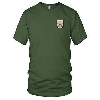 E.U. da Marinha USS LST-846 Jennings County bordada Patch - Mens T-Shirt