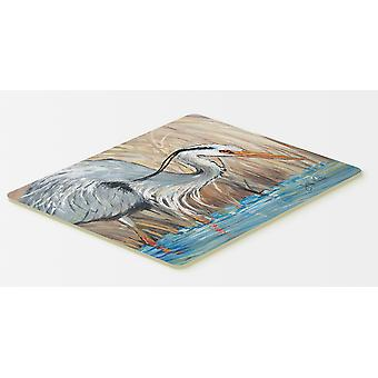 Blue Heron in the reeds Kitchen or Bath Mat 20x30