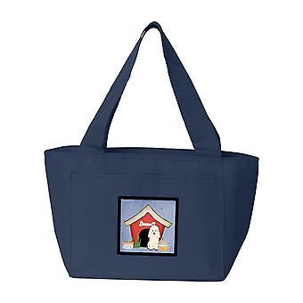 Carolines tesori BB2824NA-8808 cane casa collezione barboncino bianco Lunch Bag