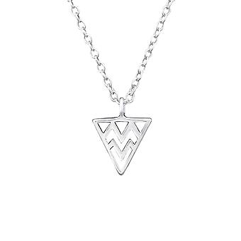 Triangle - 925 Sterling Silver Plain Necklaces - W32218x
